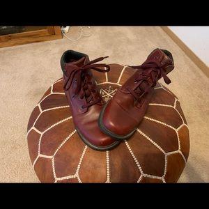 EUC Dark Red Timberland Hiking Boots Size 10